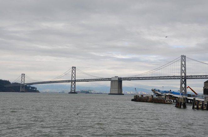 Vue sur la baie de San Francisco depuis les docks, USA