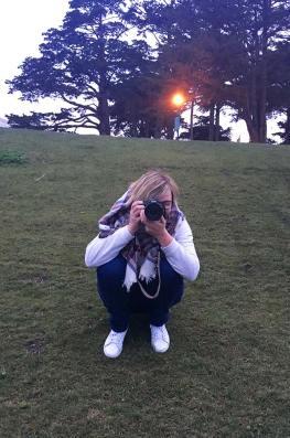 Charlotte derrière son objectif, San Francisco, USA