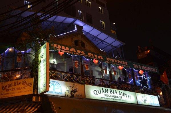 Quan Bia Minh, restaurant à Hanoi, Vietnam