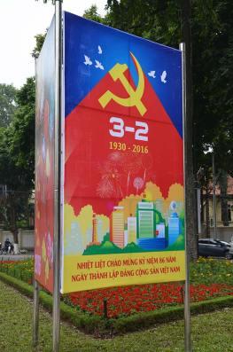 Affiche de propagande, Hanoi, Vietnam