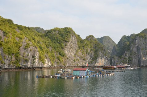 Villages flottants, baie de Lan Ha, Vietnam