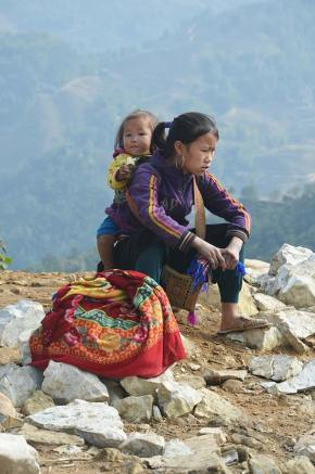Jeunes filles Hmongs à Sapa, Vietnam