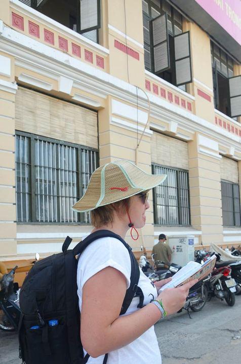 Charlotte dans les rues de Saigon, Ho Chi Minh Ville, Vietnam