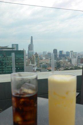 Vue d'un rooftop, Ho Chi Minh Ville, Saigon, vietnam