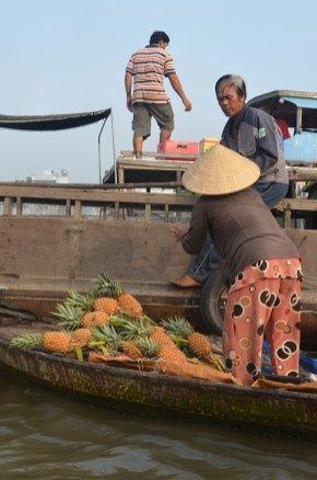 Bateau, marchés flottants, Delta du Mékong, Can Tho, Vietnam