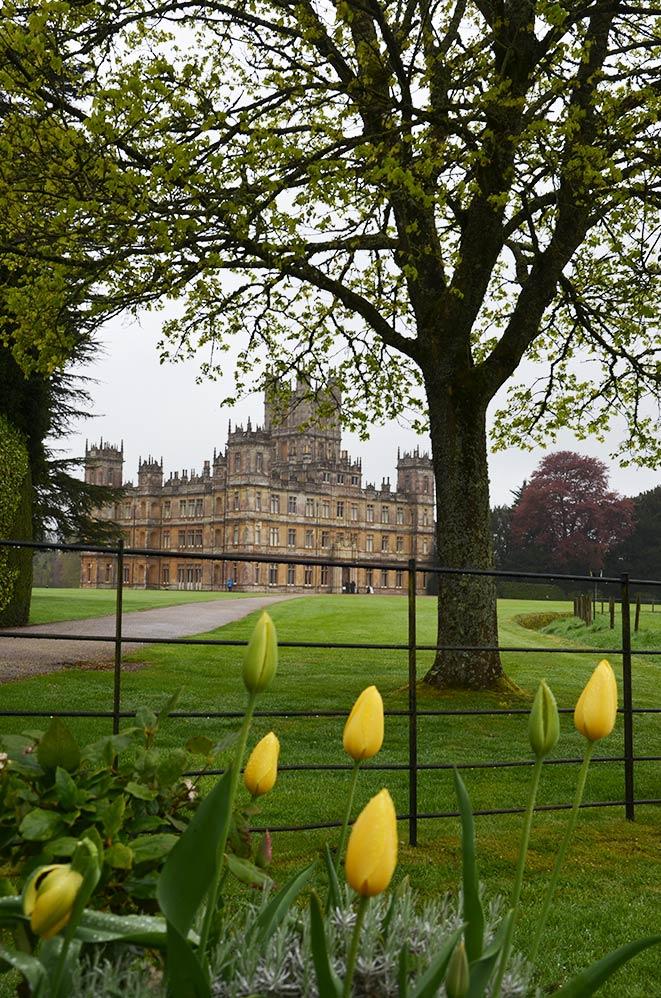 Highclere Castle, lieu de tournage de la série Downton Abbey, campagne anglaise, Royaume Uni