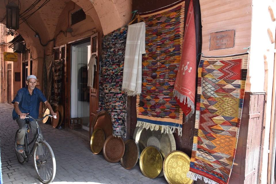 Magasin de tapis, Marrakech, Maroc