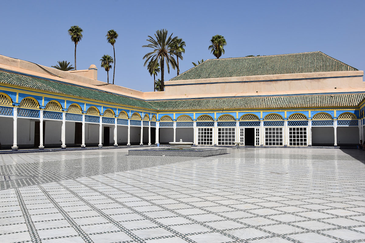 Intérieur du Palais Bahia, Marrakech, Maroc