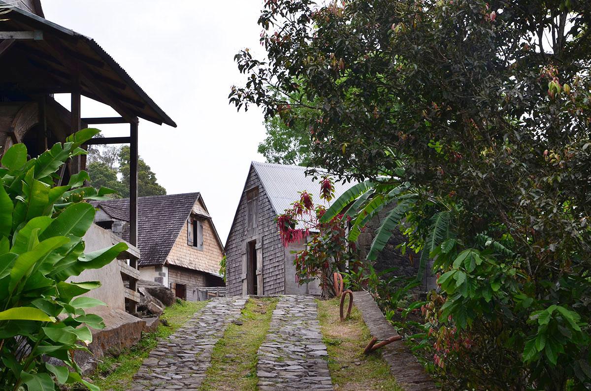 Entrée de la Maison de la Grivelière, Guadeloupe