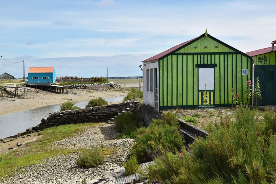 Cabanes colorées du port de Saint-Trojan-les-Bains, Ile d'Oléron