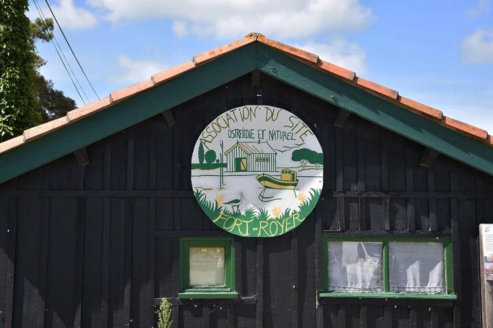 Panneau du site ostréicole de Fort-Royer, Ile d'Oléron
