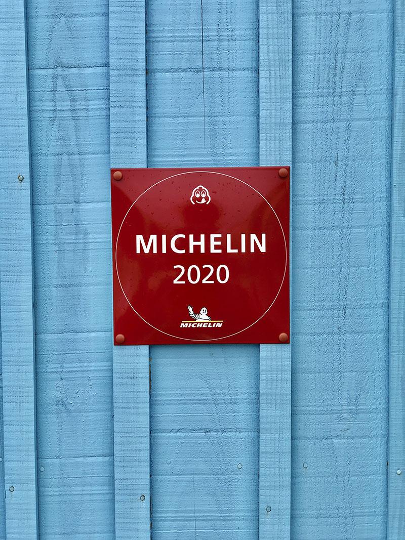 Panneau Michelin 2020 du Relais des Salines, Ile d'Oléron