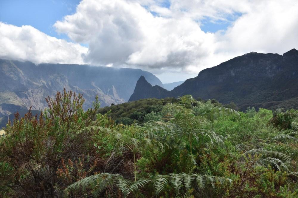 Paysage magnifique du Cirque de Mafate, La Réunion