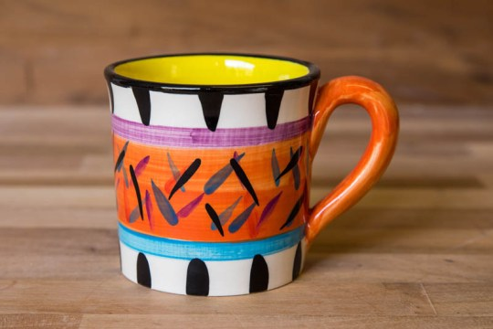 Splash wide mug in Orange