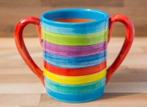 Double handle pint mug in candy