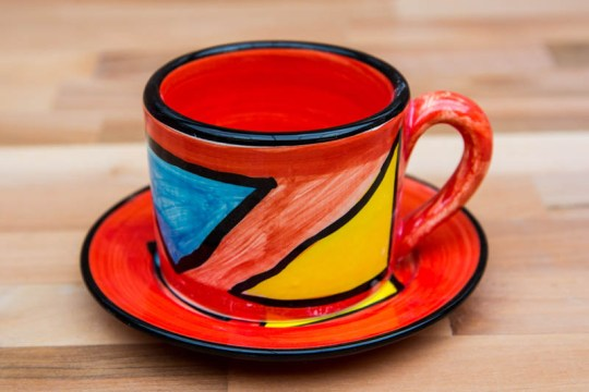 Carnival small cup and saucer in Red