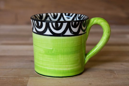 Aztec small parallel mug in lime green