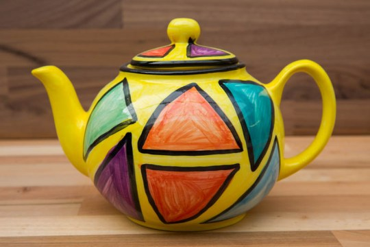 Carnival small teapot in Yellow