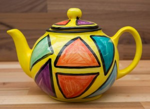 Carnival extra large Teapot in Yellow