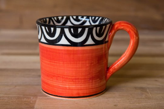 Aztec wide parallel mug in red