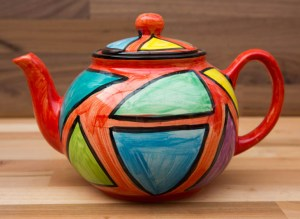 Carnival extra large Teapot in Red
