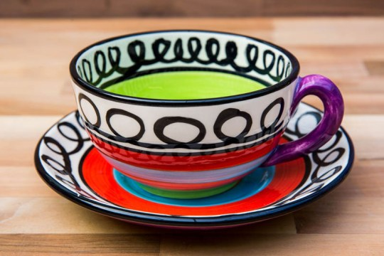 Hi-Life Gaudy cup and saucer in Scribble