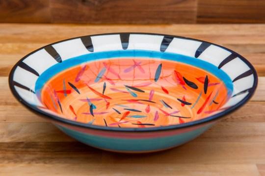 Splash pasta bowl in Orange