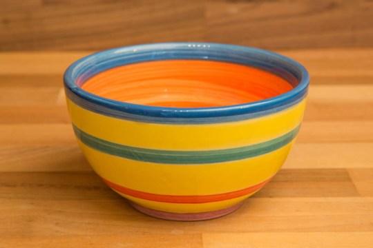 Horizontal Stripey sugar bowl in Yellow