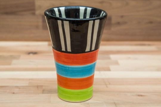 Hi-Life Gaudy small vase in Broad Stripe