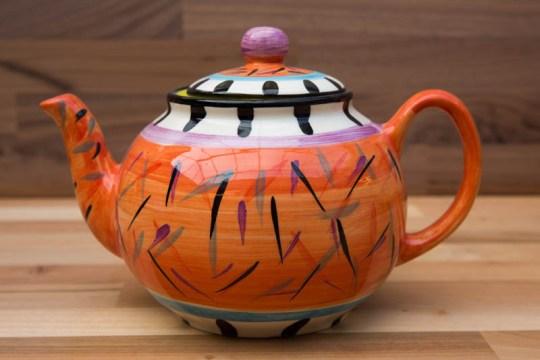 Splash medium teapot in Orange