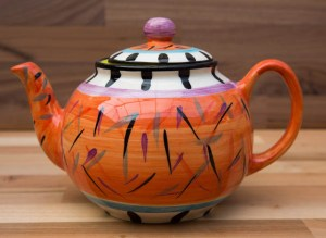 Splash mini teapot in Orange