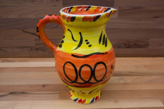 Abstract large jug in yellow