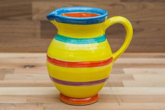 Horizontal Stripey small jug in Yellow
