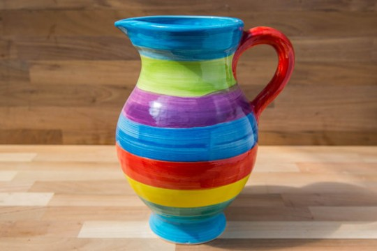 Horizontal Stripey small jug in Candy