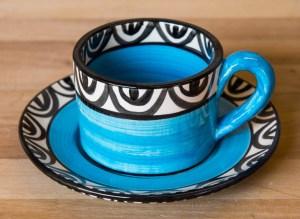 Aztec bright blue Reckless Designs
