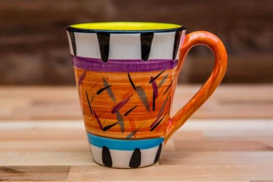 Splash large tapered mug in Orange