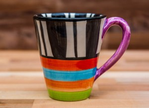 Hi-Life Gaudy large tapered mug in Broad Stripe