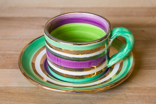 Lustre Horizontal small cup and saucer in No.03
