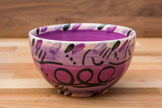 Abstract sugar bowl in purple