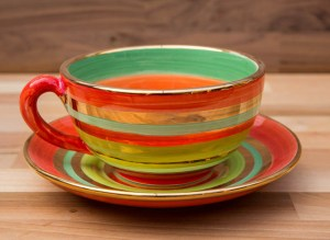 Lustre Horizontal cup and saucer in No.02