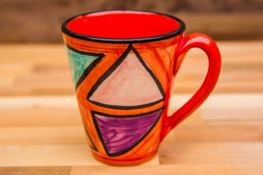 Carnival large tapered mug in Red