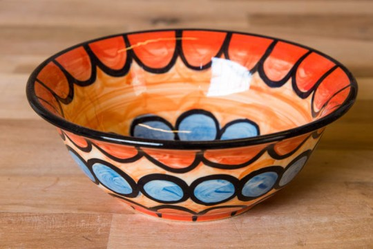 Fruity cereal bowl in Red