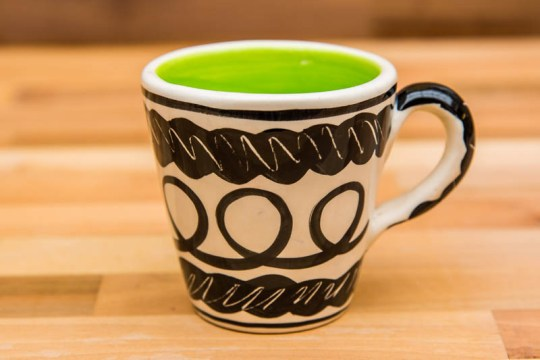 Black and White small tapered mug in Scribble