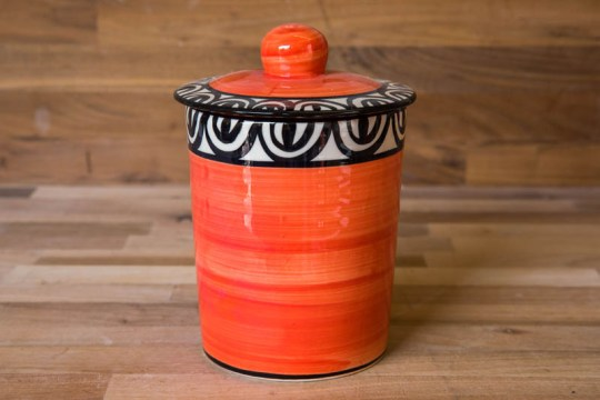Aztec storage jar in red