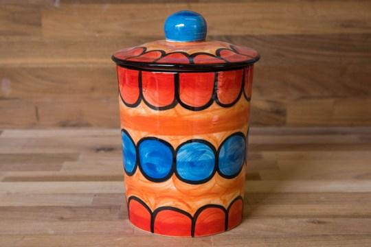 Fruity storage jar in Red
