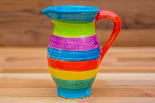 Horizontal Stripey creamer jug in candy