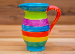 Horizontal Stripey creamer jug in candy