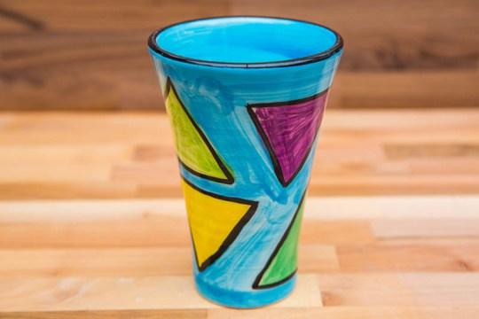 Carnival small vase in Pale Blue