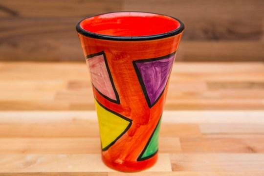 Carnival small vase in Red