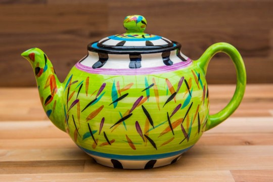 Splash medium teapot in Lime Green